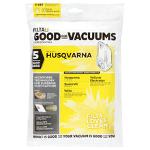 Load image into Gallery viewer, FILTA HUSQVARNA QUALCRAFT MICROFIBRE VACUUM CLEANER BAGS 5 PACK (F023)