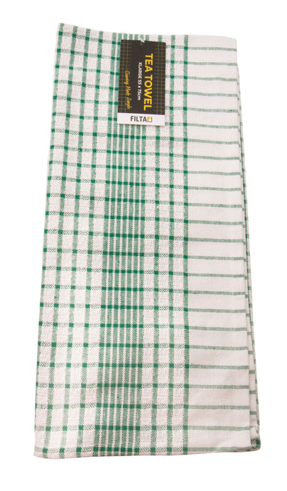 FILTA XL COTTON TEA TOWEL GREEN (55CM X 75CM)