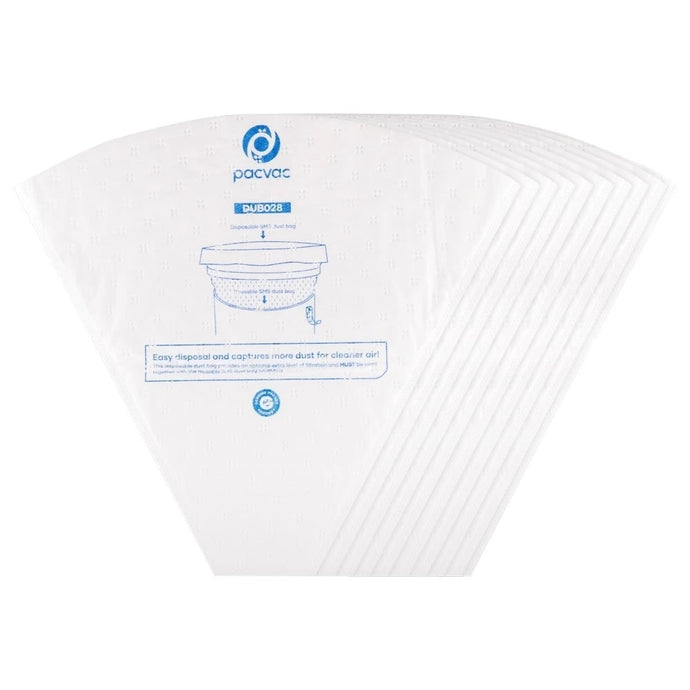 PACVAC SUPERPRO 5L SYNTHETIC BAGS - 10 PACK