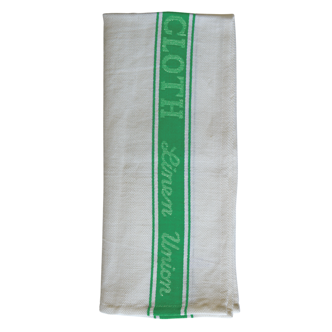 FILTA GLASS CLOTH TEA TOWEL 50% LINEN 50% COTTON GREEN (55CM X 80CM)