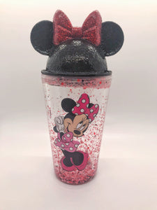 Mini Bow Mouse Snowglobe tumbler