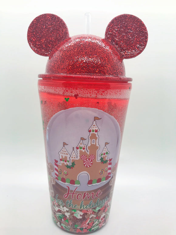 Gingerbread Mouse Snowglobe tumbler