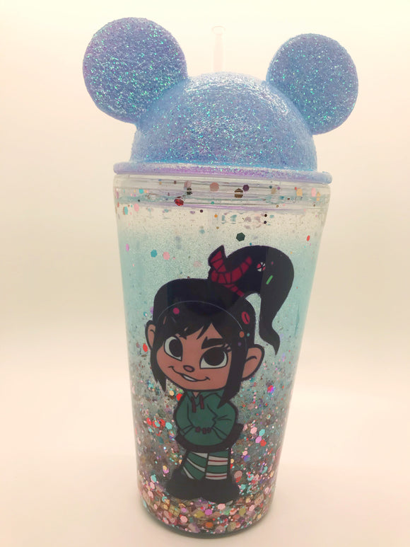 Candy Girl Mouse Snowglobe tumbler
