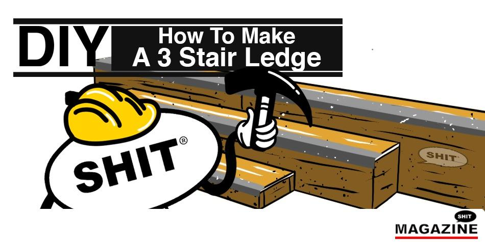 How to make a 3 stair ledge for skateboarding