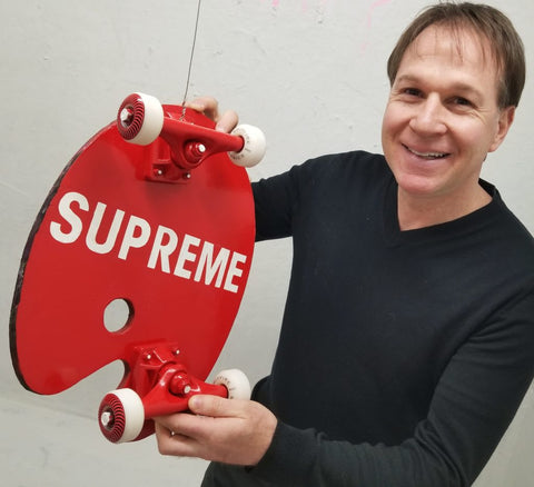 The supreme mundi is a art skateboard and very expensive