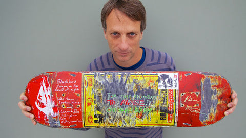 Tony Hawk auctioned this skateboard and its really expensive