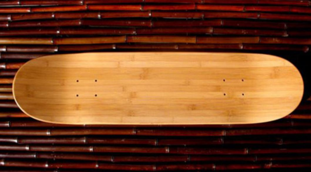 A bamboo skateboard: Skateboarding can be environmentalism