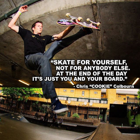 Pro Skater Chris Colbourn Interview cookie on shit