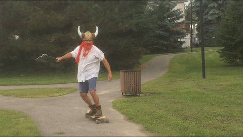 Skateboarding vikings from the north