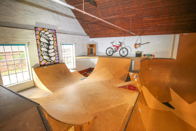 skatepark in a home