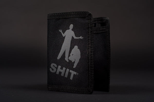 SHIT® CLASSIC PERSONS LOGO WALLET (BLACK)