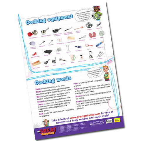 Cooking Equipment and Definitions – Children's A2 Poster