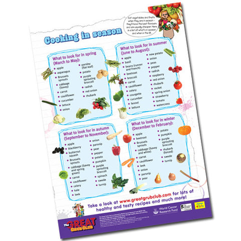 Cooking in Season – Children's A2 Poster