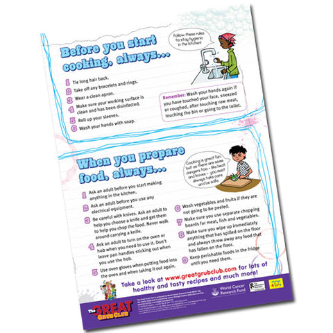 Kitchen Health and Safety – Children's A2 Poster