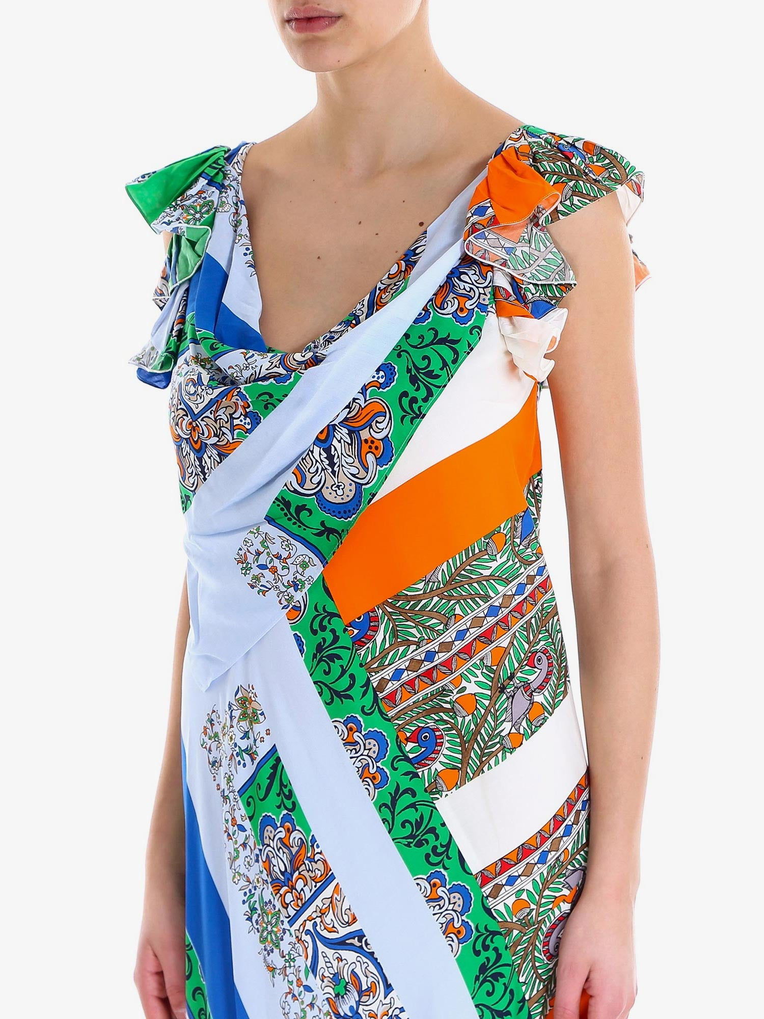 PATCHWORK  PRINTED DRESS
