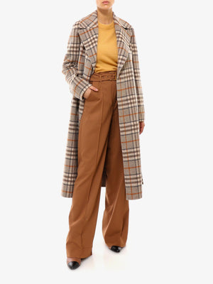 REVERSIBLE CHECK COAT