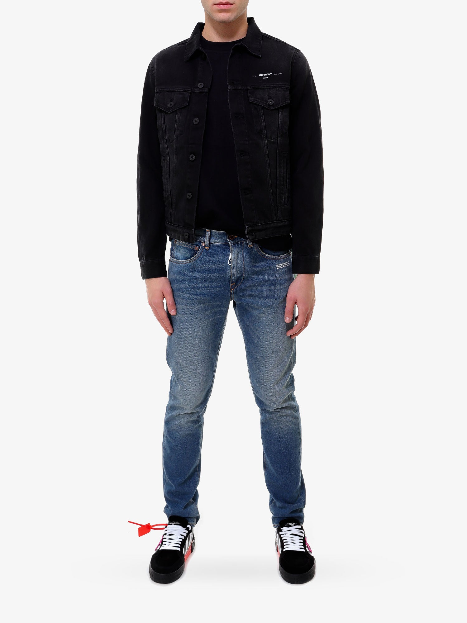 TAPE ARROWS SLIM JEANS JACKET