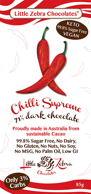 Chilli Supreme, Dark Chocolate 85g