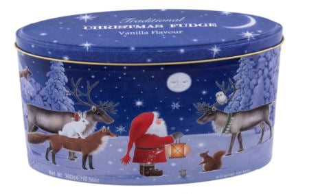 Santa and moon tin