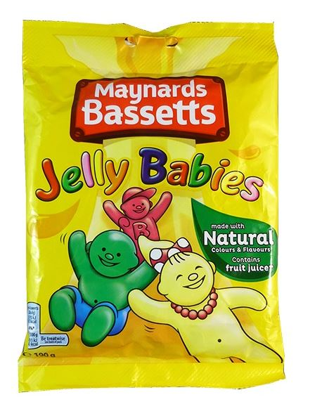 Dusted jelly babies 190g bag