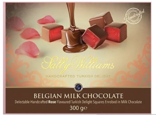 Milk Chocolate Coated Rose Flavoured Turkish Delight, 300g