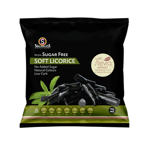 Soft Licorice Pieces with Stevia 90g