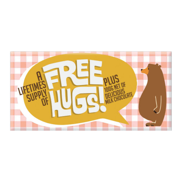 Bloomsbury Free Hugs Chocolate bar