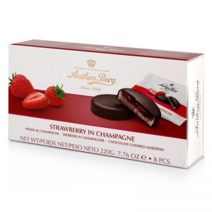 Anton Berg strawberry in champagne marzipan