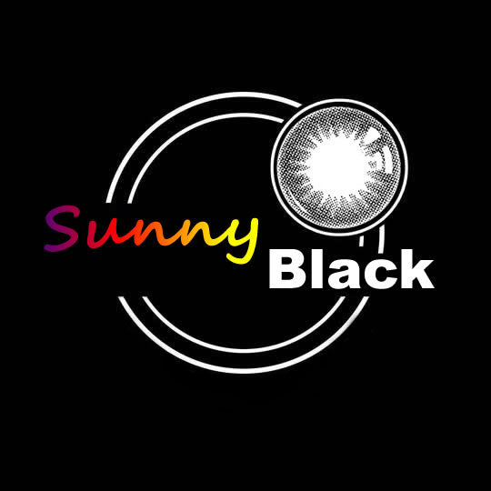 EyeMi® Sunny 1-Year Black Colored Contact Lenses