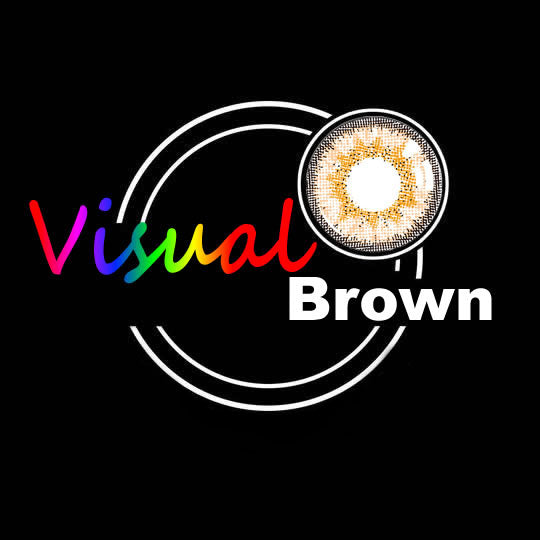 EyeMi® Visual 1-Year Brown Colored Contact Lenses