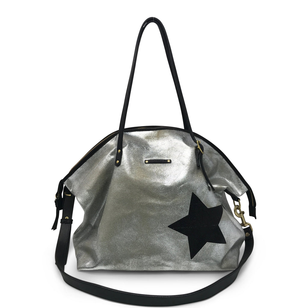 Metallic Canvas Crossbody