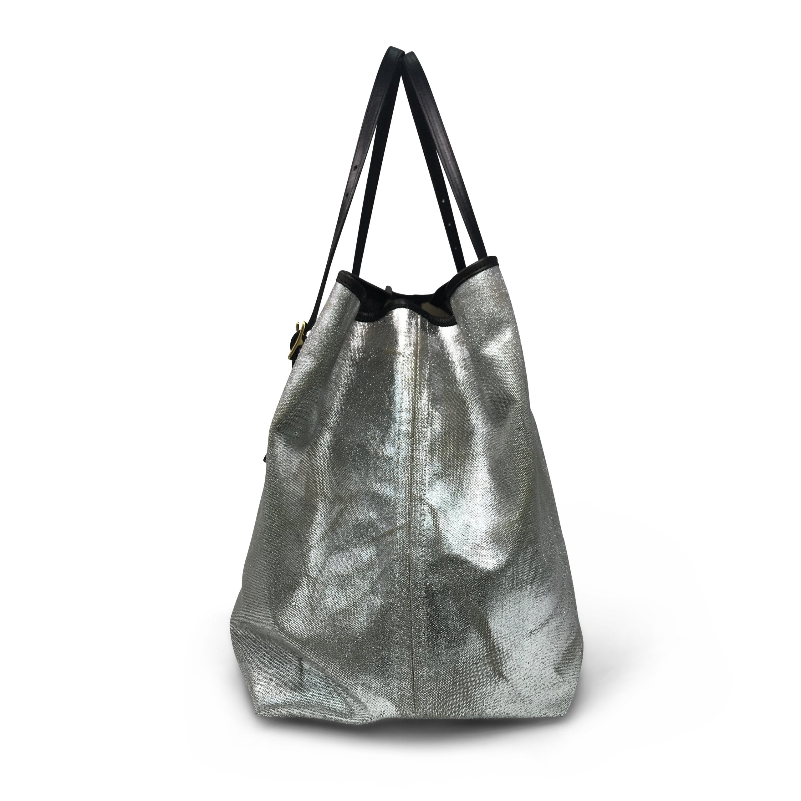 Metallic Canvas Tote