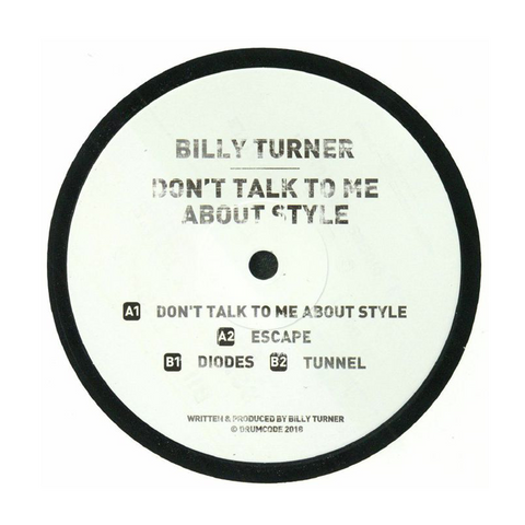 Billy Turner - Don't Talk To Me About Style 12""