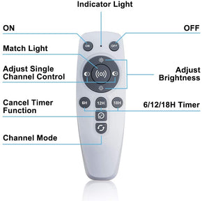 LED Aquarium Light with Remote Control