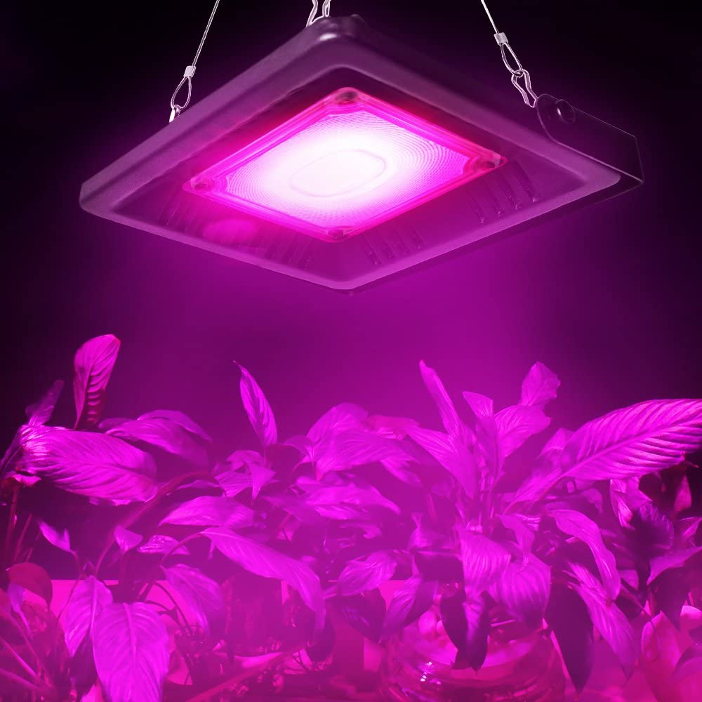 Relassy Plant Lamp COB Grow Lamp Full Spectrum 50W, LED Plant Light IP67 Waterproof Grow Light for Indoor Plants, Greenhouse, Hydroponics with EU plug -  (M-50)