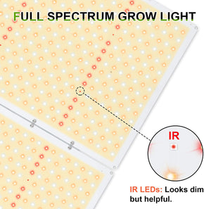 Relassy LED Grow Light R-2000 Sunlike Plant Grow Light Dimmable Built-in Timer 832pcs LEDs LCD Remote Full Spectrum Growing Lamp for Hydroponics Indoor Plants Veg Bloom 3x4 ft