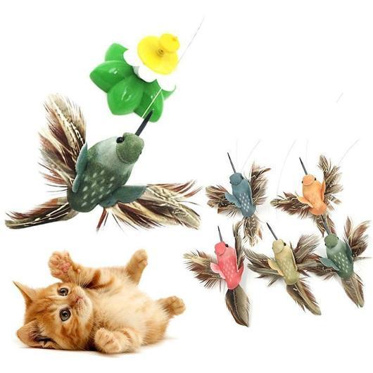 Cat Toy Automatic Electric Rotating Colorful Butterfly Bird