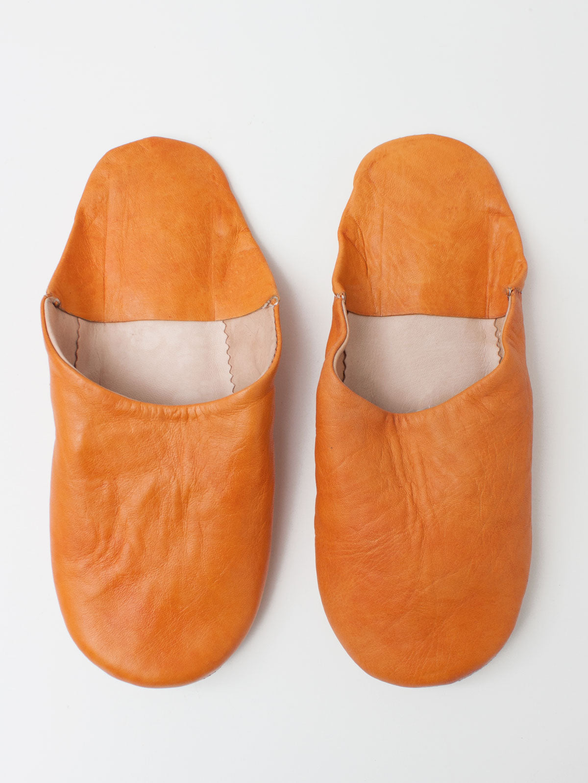Moroccan Mens Babouche Slippers, Rust (Pack of 2)