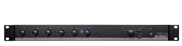AUDAC 6 Channel Stereo Rack Mount Mixer