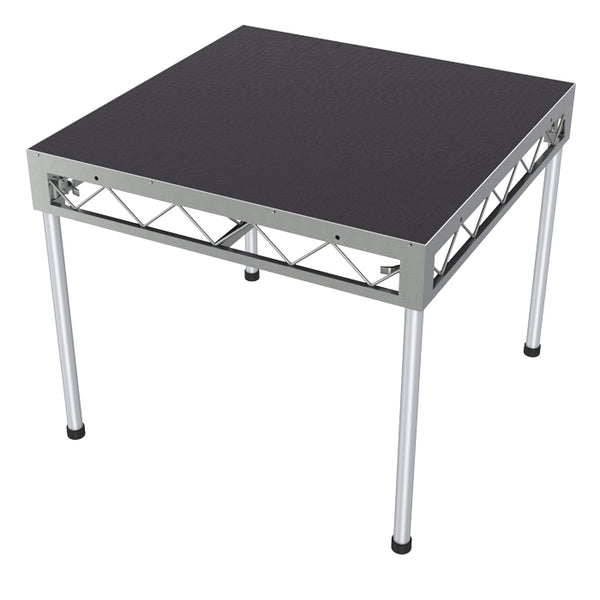 Global Truss 1.2m x 1.2m Stage Platform with 0.9m Legs - Non-Slip Top