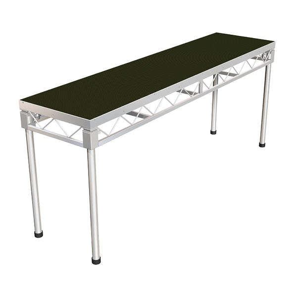 Global Truss 2.4m x 0.6m Stage Platform with 0.9m Legs - Non-Slip Top