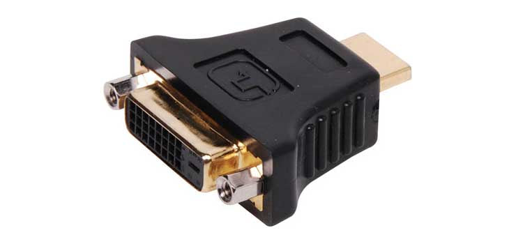 Dynalink HDMI Plug To DVI-D Socket Adapter