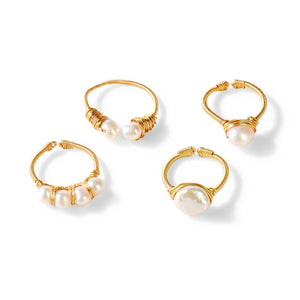 Adjustable Gold Pearl Ring - ALittleSomething