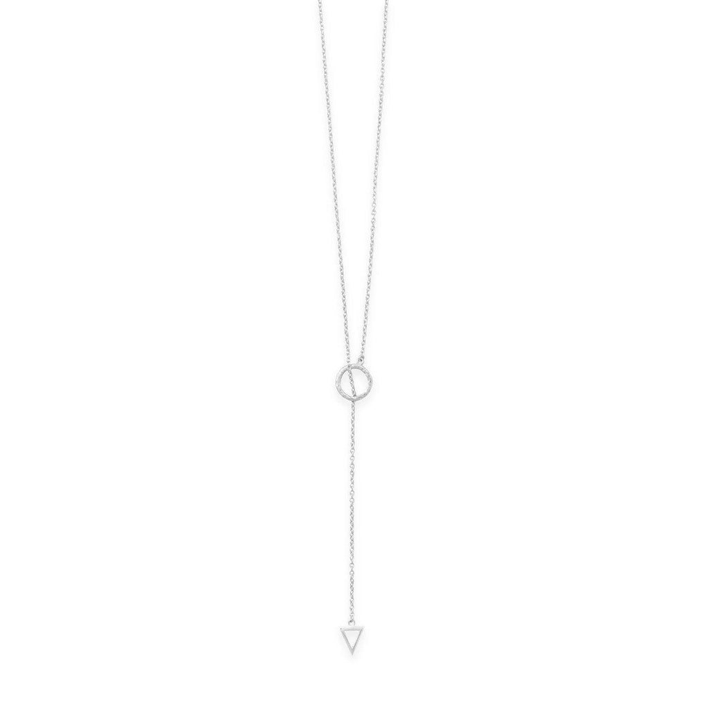 24'' Sterling Lariat Necklace