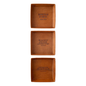 Quotable Leather Trays