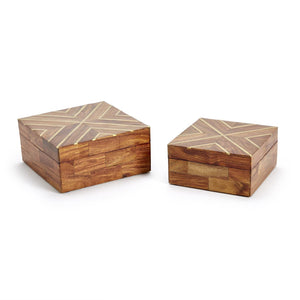 Inlayed Wood Box - ALittleSomething