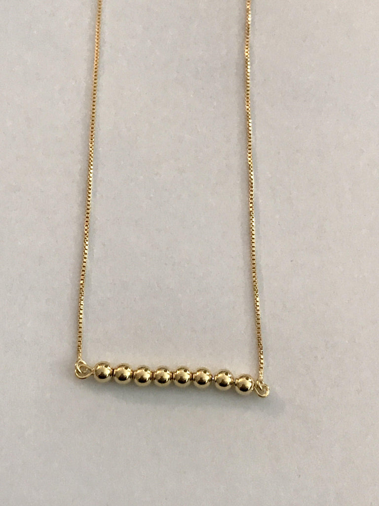 8 bead 14kt Gold Plated Necklace