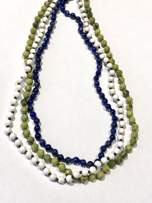 Long Simple Bead Necklace