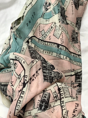Paris Map Scarf - ALittleSomething