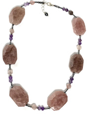 Stunning Natural Stone & Crystal Necklace